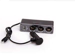 USB and 3 Port Triple Socket Car Charger for PDA , GPS 12V  a fuse included