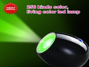 light Living color led lamp led magic light 256 color change ON/OFF touch control- Black color for home, room, hotel, winebar, Christmas holiday