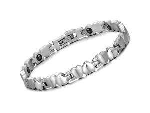 Luxury Silver Bracelet Stainless Steel Health Magnetic Bangle Fashion Girls Hand Chain Charms Jewelry Womens