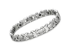 Luxury Silver Bracelet Stainless Steel Health Magnetic Bangle Fashion Boy Hand Chain Charms Jewelry Womens