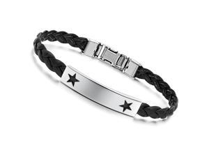 Silver Bracelet Stainless Steel Bangle Brown Leather Girdle Fashion Girl Hand Chain Charms Jewelry Women