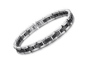 Silver Bracelet Stainless Steel Magnetic Bangle Ceramic Luxury Fashion Boy Hand Chain Charms Jewelry Mens