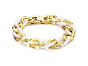 Gold Bracelet Stainless Steel Magnetic Bangle Ceramic Luxury Fashion Boy Hand Chain Charms Jewelry Mens