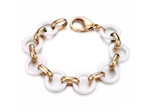 Rose Gold Bracelet Stainless Steel Magnetic Bangle Ceramic Luxury Fashion Boy Hand Chain Charms Jewelry Mens