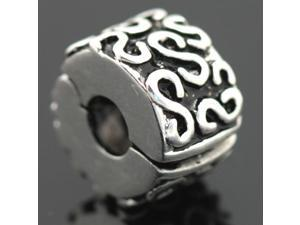 Clip On Spacer S 925 Sterling Silver European Charm Bead for Pandora Bracelet Necklace Chain