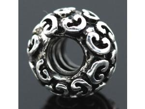 Mystic Patterns C Logo Spacer 925 Sterling Silver European Charm Bead for Pandora Bracelet Necklace Chain