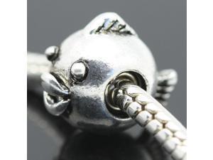 925 Sterling Silver Fish European Charm Bead fit Pandora Snake Bracelet/Necklace Chain