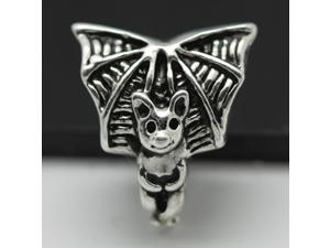 Small Bat 925 Sterling Silver European Charm Bead for Pandora Bracelet Necklace Chain