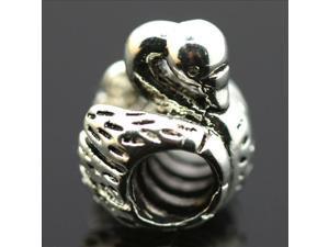 Swan European Charm 925 Sterling Silver Bead fit Pandora Bracelet Necklace Chain