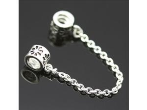 5cm Sapcer Safety Chain European Charm 925 Sterling Silver Bead fit Pandora Bracelet Necklace Chain