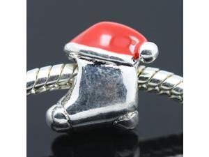 Christmas Red Shoes 925 Sterling Silver European Charm Bead for Pandora Bracelet Necklace Chain