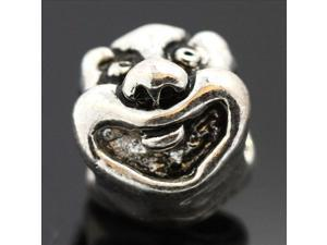 Face bead 925 Sterling Silver European Charm Bead for Pandora Bracelet Necklace Chain