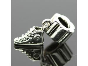 Sport Shoe Pendant Sterling Silver European Charm Bead for Pandora Bracelet Necklace Chain