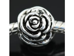 Big Flower European Charm 925 Sterling Silver Bead fit Pandora Bracelet Necklace Chain