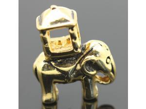 18K Elephants Gold Plated European Charm 925 Sterling Silver Bead fit Pandora Bracelet Necklace Chain