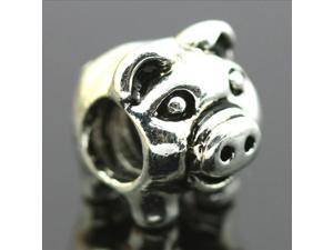 Pig 925 Sterling Silver European Charm Bead for Pandora Bracelet Necklace Chain