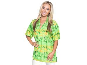 Button Down Shirt Womens Top Blouse Cover up Hawaiian Gift For Womens Party L