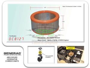 Generac 0C8127 - Air Filter / Air Cleaner Element 760 / 990 Engine (Pre 2013)