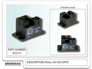 Generac 0C2174 RELAY 12V 25A SPST