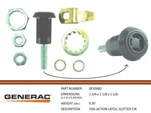 Generac Slotted Circle Vise-Action Latch Part# 0F5048D