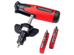 Powerbuilt 12-in-1 T-Handle Ratcheting Bit Screwdriver - 941160
