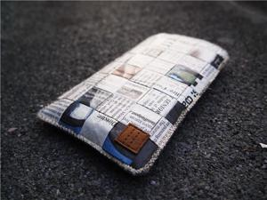 Paralife Custom Handmade Newspaper cell phone pouch sleeve bag case covers purse for Samsung Galaxy S II TV (can also custom made for any model)