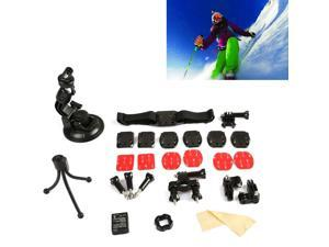 OXA 15 IN 1 Mount Accessories for Gopro o Hero HD 1 2 3 3+ Camcorder (Bicycle Handlebar + Helmet Chest Harness + Curve MOUNT + Mini Tripoe + Lens cleaning Cloth + GoPro 3 Battery ETC)