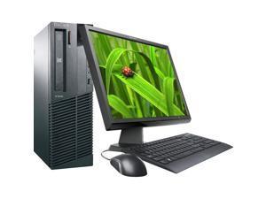 "Lenovo M91p Intel i5 3100 MHz 160Gig HDD 2048mb DVD-RW Windows 7 Professional 32 Bit + 19"" LCD Desktop Computer"
