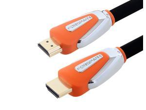 FORSPARK 6ft 4K-HDMI 2.0 Ultra Premium High Speed HDMI Cable 26AWG with Ethernet,Support 3D 4K 1080P for Apple TV-3D Gaming, Xbox,PS3 ,Orange Case