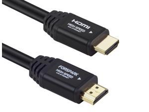 FORSPARK High Speed Ultra HDMI Cable 25ft with Ethernet ,Supports 4K, 3D, 1080p Full HD Latest Version, Black Case