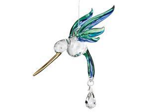 Woodstock Chimes Rainbow Maker - Fantasy Glass Hummingbird, Peacock