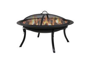 Sunnydaze Portable Folding Fire Pit with Carrying Case, 29 Inch Diameter