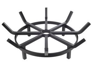 Super Heavy Duty Wagon Wheel Firewood Grate for Fire Pit - Made in USA (20 Inch)