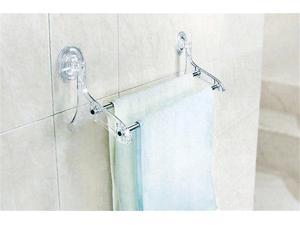 Q00174 Bathroom Lavatory Double Towel Bar 522*137mm*163mm Suction Cup Brushed Stainless Steel