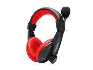 F11139 Suoyana S-750 Stereo Headphone Headset W/ Microphone For Laptop VoIP Skype Chat Color Red