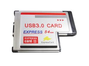 Q00421 WBTUO Notebook 54MM Expand Express Card 2 Port USB3.0 Adapter Converter