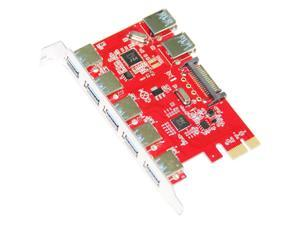 Q00439 WBTUO LTU3-52P WBTUO Desktop PCI-E to 5-Port USB 3.0 + Built-in 2-Port US