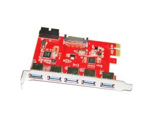 Q00448 WBTUO LTU3-51P Desktop PCI-E to 5-Port USB 3.0 + 20 PIN Expansion Card