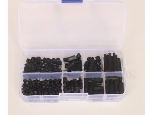 F16255 M3 Series 180 pcs Black 120 pcs White nylon screws and nuts insulated isolation column Screw Accessories Kit