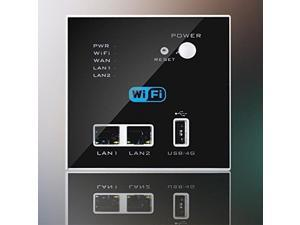 Wall Embedded Wireless AP Router 3G/4G Wireless Wifi Computer USB Charge Black