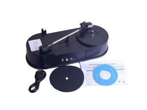 USB Mini Phonograph Turntable Vinyl Turntables Audio Player Support Turntable Convert LP Record to MP3 Function