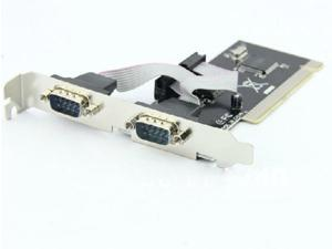 F05632 PCI to COM Dual RS232 Serial I/O Port Card Adapter 2 Port 9 Pin