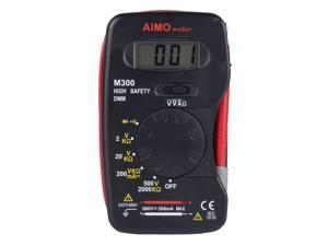 Aimometer M300 Pocket-size Digital Multimeter for Easy Taking Multimete/Continuity Buzzer Pens and Multimeter Connect