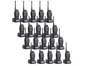 20 Pack BaoFeng BF-888S Long Range UHF 400-470 MHz 5W Portable Handheld 2-way Ham Radio with Earpiece