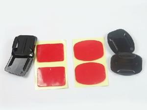 2Pcs/Each Flat Curved Adhesive Sticky Mount Super Sticker for GoPro HD Hero2 Hero3 Camera Sport