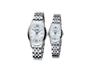 1 Piece Fashion Steel Band Night Light Lover's Quartz Wrist Watch Best Gift For Man or Lady or Couple