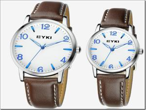 1 Piece Hotsell Korea Simple Style PU Leather Strap Lover's Quartz Wrist Watch Best Gift For Woman Man Couple