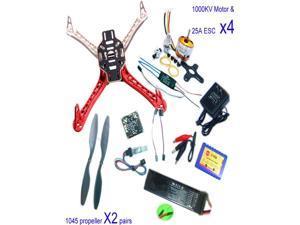 RC 4 Axis Multi QuadCopter UFO ARF/Kit No TX&RX:KK V2.3 Circuit board+1000KV Motor+30A ESC+Lipo+F450 Flamewheel