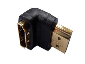 Wholesale HDMI Male to Female 90 degree adapter connector coupler