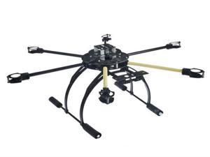 ATG 700mm 6-Axis Tube Fiberglass Folding Frame Kit With Tall Landing Skid For Quadcopter HexaCopter FPV